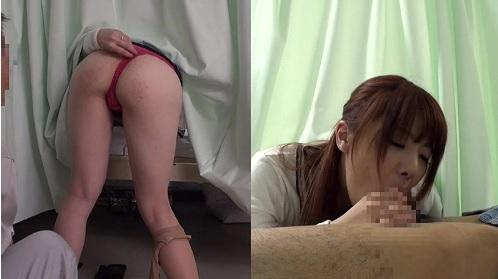 入院中の夫にフェラする人妻にカーテン越しにハメちゃう男性入院患者
