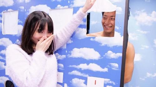 【MM号】彼氏とラブラブな女子大生が彼氏のチンポ当てゲーム参加した結果は!?