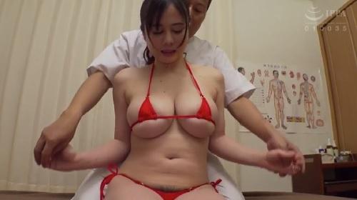 吉川あいみ 爆乳女子が極小水着を着せられてセクハラマッサージされる