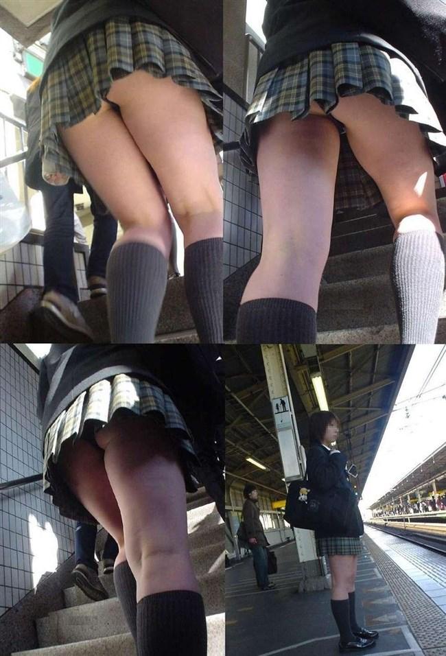 絶対目視してはいけない!階段下からミニスカJKを見上げる絶景www0008shikogin