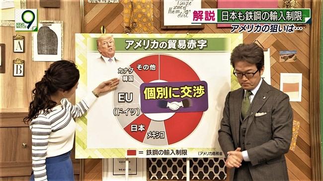 桑子真帆~NEWS WATCH 9で超突き出たニット服での胸元にニュースそっちのけで興奮!0009shikogin