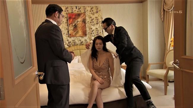 平塚千瑛~特捜9出演時の胸の谷間丸見えのドレス姿がエロ過ぎ!パンティーも丸見え!0002shikogin