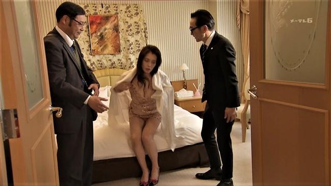 平塚千瑛~特捜9出演時の胸の谷間丸見えのドレス姿がエロ過ぎ!パンティーも丸見え!0009shikogin