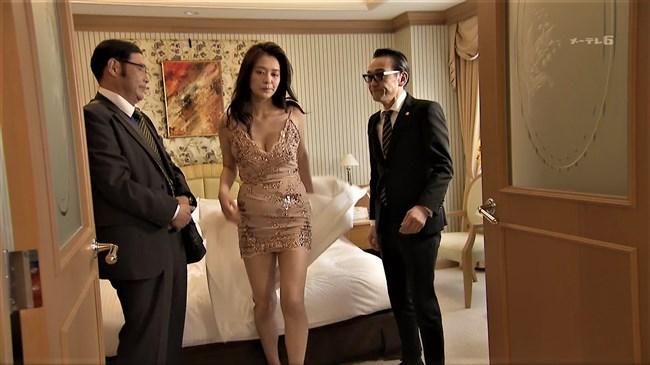 平塚千瑛~特捜9出演時の胸の谷間丸見えのドレス姿がエロ過ぎ!パンティーも丸見え!0010shikogin