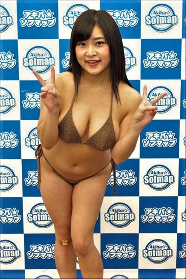 深井彩夏~Gカップのエロボディーがさく裂した水着グラビアは柔らかさを感じるぞ!0011shikogin