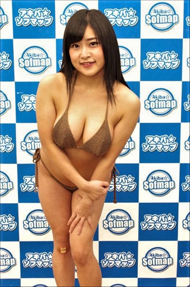 深井彩夏~Gカップのエロボディーがさく裂した水着グラビアは柔らかさを感じるぞ!0014shikogin