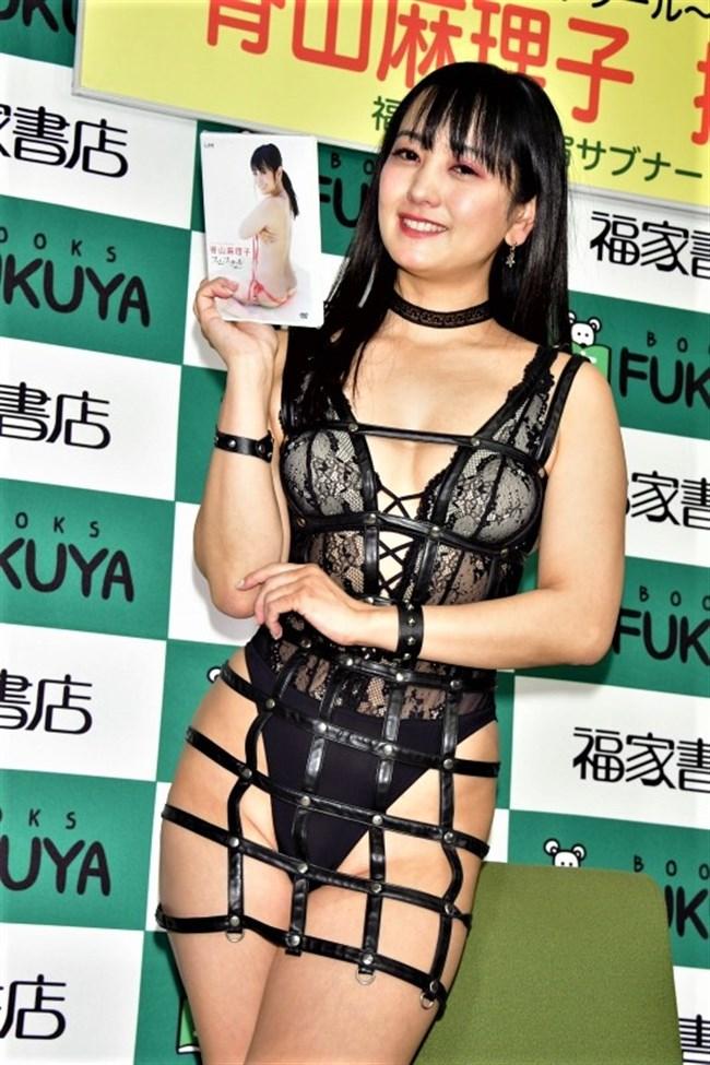 脊山麻理子~新作DVD発売記念イベントで超エロいボンデージ姿で登場し唖然!0011shikogin