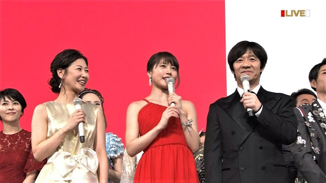 桑子真帆~NHK紅白歌合戦でのムッチリ腕で胸の膨らみがエロいノースリーブ姿が最高!0002shikogin