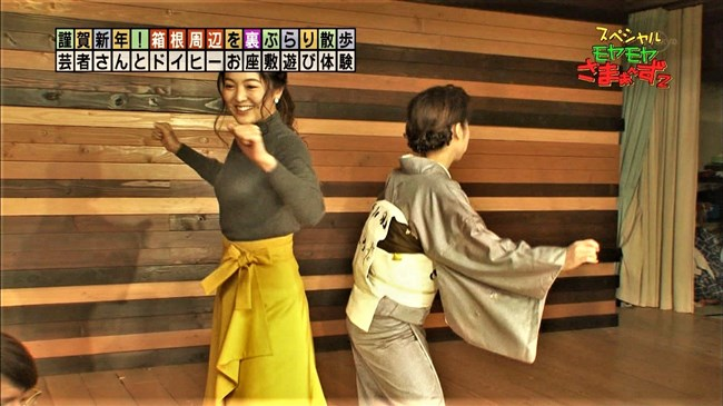 福田典子~モヤさまでピッタリしたニット服で胸の膨らみを強調した姿が極エロ!0005shikogin