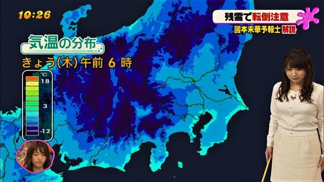 國本未華~PON!での天気予報は天気図よりもオッパイにしか目がいかなかった!0007shikogin