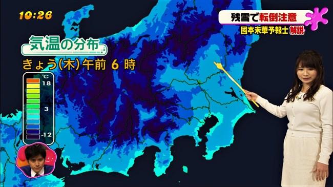 國本未華~PON!での天気予報は天気図よりもオッパイにしか目がいかなかった!0010shikogin