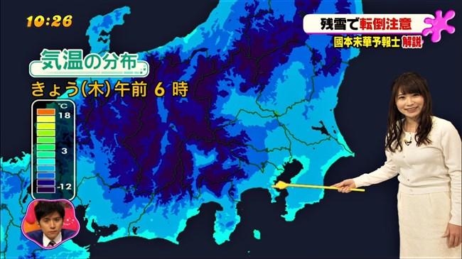 國本未華~PON!での天気予報は天気図よりもオッパイにしか目がいかなかった!0011shikogin