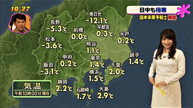 國本未華~PON!での天気予報は天気図よりもオッパイにしか目がいかなかった!0012shikogin