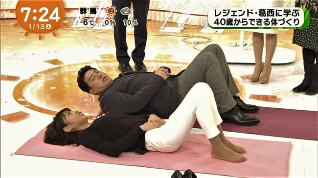 岡副麻希~めざましテレビの体操で胸の膨らみが凄くエロくてセクシーだったぞ!0009shikogin