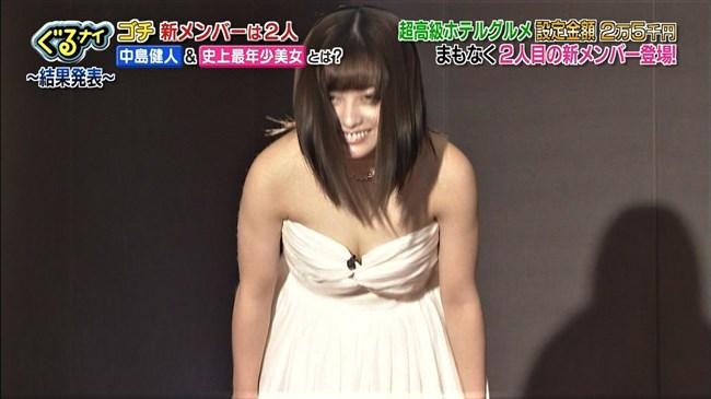 橋本環奈~ぐるナイのゴチ新メンバーに決定!胸の谷間を出した白ドレス姿に興奮!0007shikogin