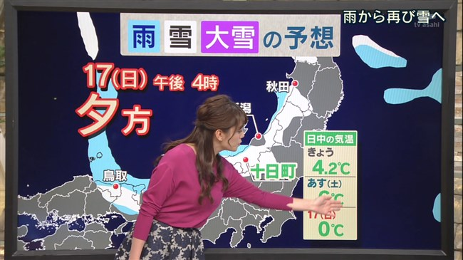 三谷紬~ユサユサした感じの天気予報の横チチが超イヤらしく着エロを観てるよう!0007shikogin