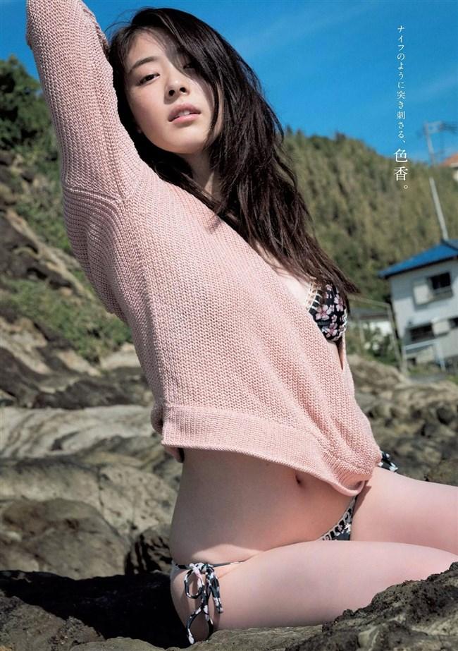 水上京香~週プレの水着グラビアは美しさと美肌が極まってエロ美し過ぎ!0004shikogin