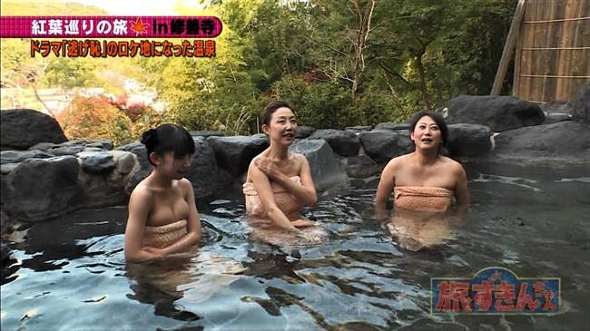 長澤茉里奈~旅ずきんちゃんの温泉ロケでのオッパイ出しが放送事故寸前の極エロ!0009shikogin