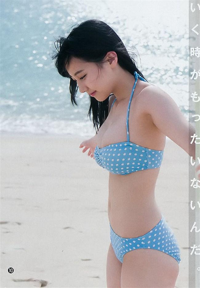 田中美久[HKT48]~巨乳を強調したエロ可愛い水着グラビアは困った時の常用オカズです!0008shikogin
