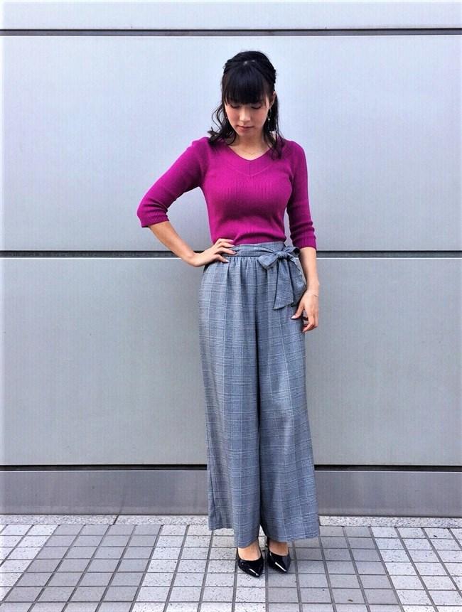 阿部華也子~パープルのニット服で胸元を強調したグラビアが超エロくて興奮!0003shikogin