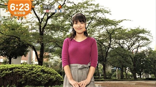 阿部華也子~パープルのニット服で胸元を強調したグラビアが超エロくて興奮!0006shikogin
