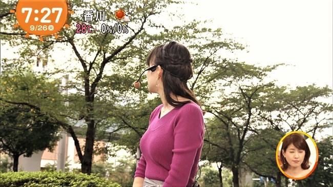 阿部華也子~パープルのニット服で胸元を強調したグラビアが超エロくて興奮!0009shikogin