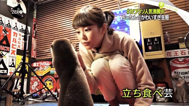 桐谷美玲~Zeroでパンツ姿でしゃがんでカワウソを可愛がる股間がスジってる!0002shikogin