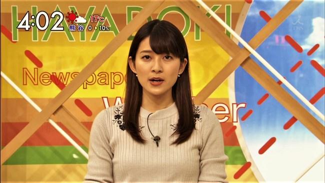 山本里菜~TBSはやドキ!で新人アナがニット服でオッパイを強調してたぞ!0006shikogin