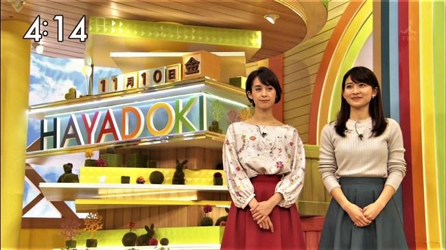 山本里菜~TBSはやドキ!で新人アナがニット服でオッパイを強調してたぞ!0007shikogin