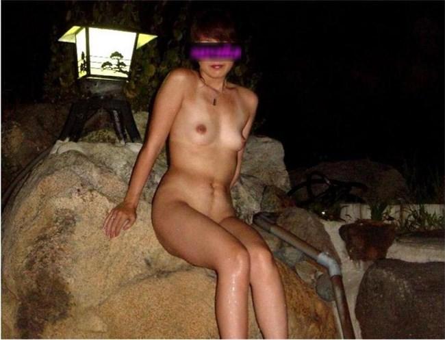 GWに彼女と混浴撮影してきたカップルのプライベート画像が流出wwww0002shikogin