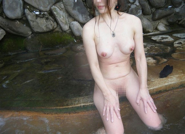 GWに彼女と混浴撮影してきたカップルのプライベート画像が流出wwww0008shikogin