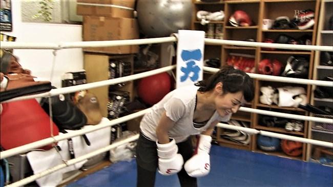 万波奈穂3段~囲碁界のアイドルがピタピタの薄着でトレーニングしていたぞ!0004shikogin