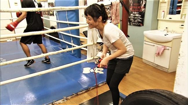 万波奈穂3段~囲碁界のアイドルがピタピタの薄着でトレーニングしていたぞ!0007shikogin