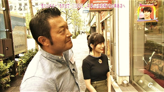 山本彩[NMB48]~黒のニット服で胸の膨らみを強調!エロ可愛かったにじいろジーン!0008shikogin