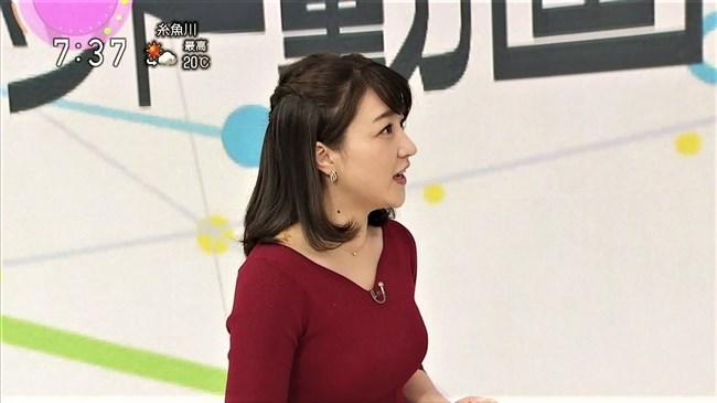 赤木野々花~NHKニュースおはよう日本での巨乳な姿とブラチラは超ドキドキ!0005shikogin