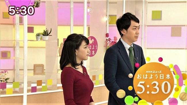 赤木野々花~NHKニュースおはよう日本での巨乳な姿とブラチラは超ドキドキ!0002shikogin