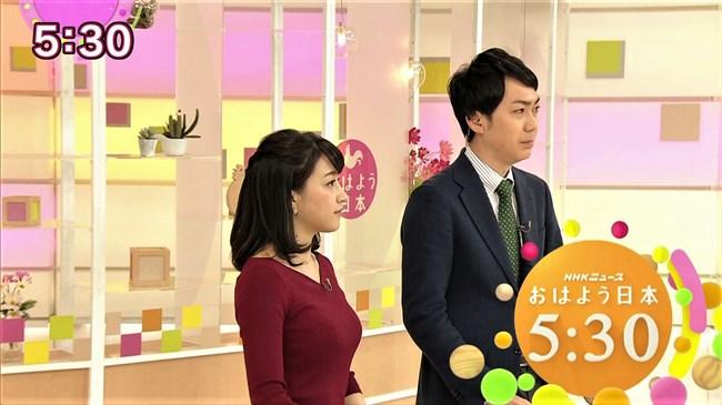 赤木野々花~NHKニュースおはよう日本での巨乳な姿とブラチラは超ドキドキ!0004shikogin