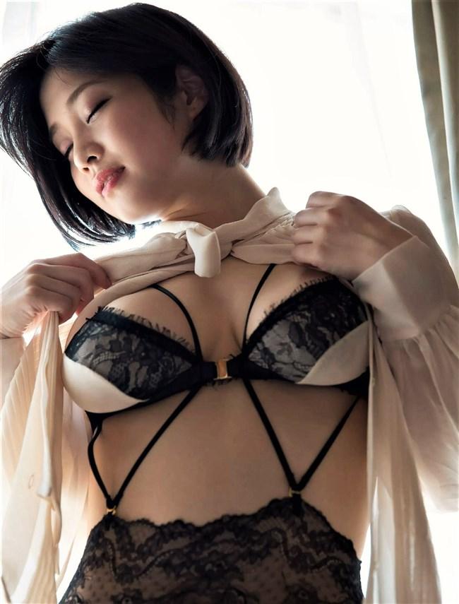 橘花凛~FLASHグラビアは水着姿と下着姿でHカップを妖艶に魅せている!0004shikogin