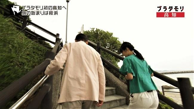 近江友里恵~ブラタモリにて階段を登る姿を下から撮影!パン線バッチリ!0004shikogin
