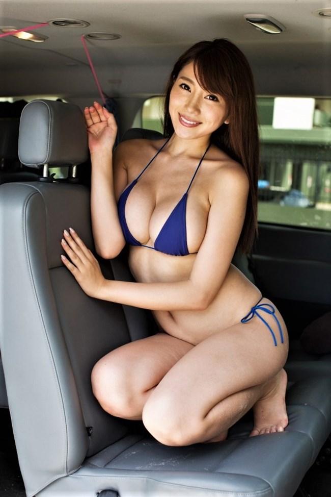 森咲智美~映像作品Pandoraも好調なGカップグラドルの超ギリギリ水着画像!0004shikogin