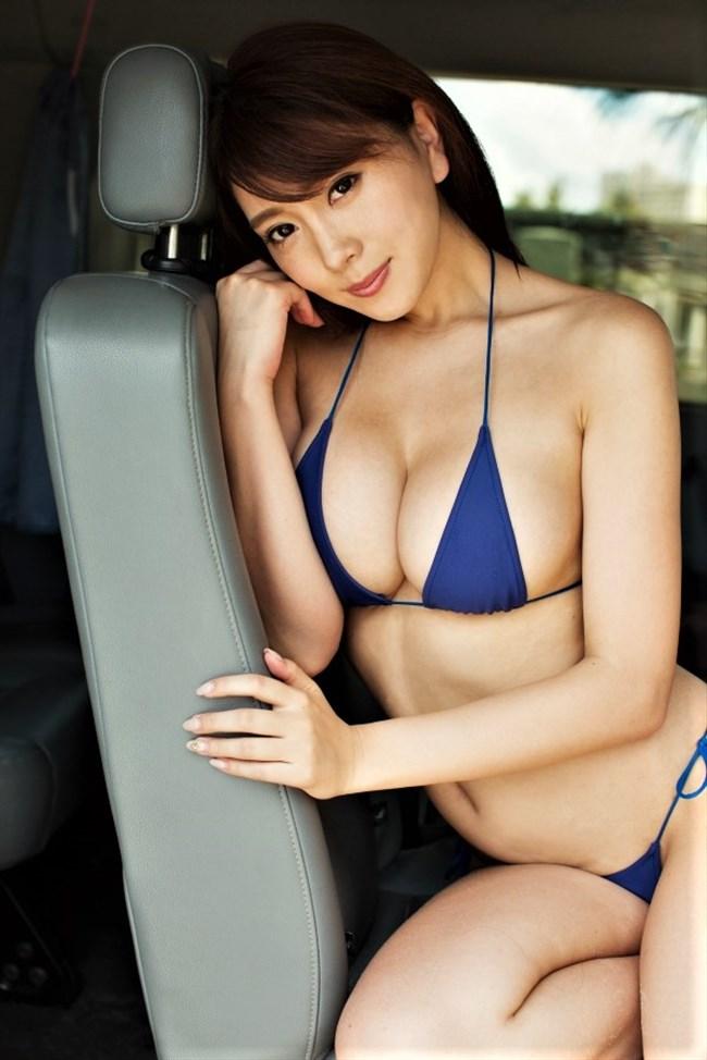 森咲智美~映像作品Pandoraも好調なGカップグラドルの超ギリギリ水着画像!0005shikogin