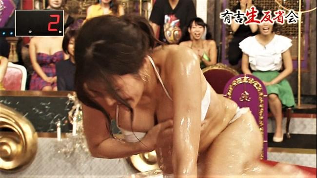 葉加瀬マイ~有吉生反省会での白ビキニ熱湯風呂がオッパイポロリで凄い!0004shikogin