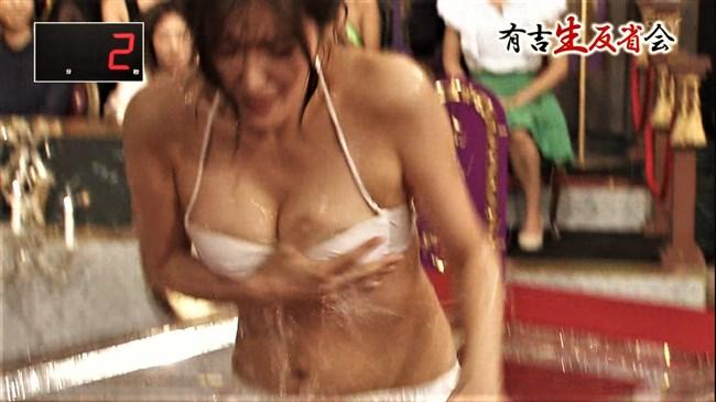 葉加瀬マイ~有吉生反省会での白ビキニ熱湯風呂がオッパイポロリで凄い!0007shikogin