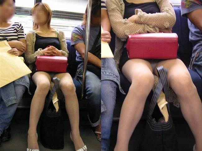 電車内でミニスカ女性が座った時の目のやり場wwwwww0022shikogin
