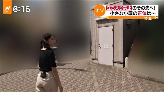 日比麻音子~Nスタ地下鉄レポートで見せたパン線クッキリの見事なヒップ!0005shikogin
