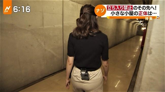 日比麻音子~Nスタ地下鉄レポートで見せたパン線クッキリの見事なヒップ!0010shikogin