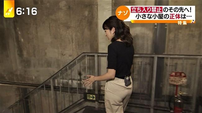 日比麻音子~Nスタ地下鉄レポートで見せたパン線クッキリの見事なヒップ!0011shikogin