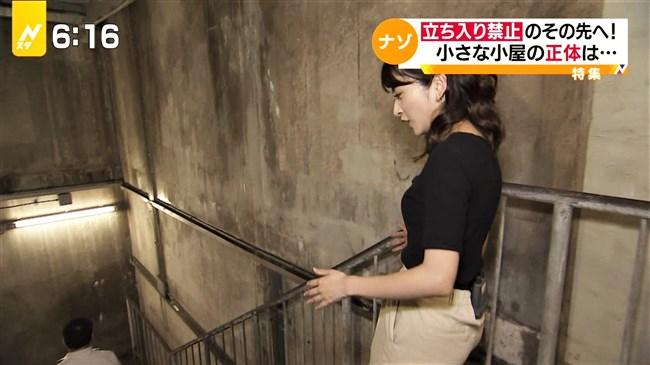 日比麻音子~Nスタ地下鉄レポートで見せたパン線クッキリの見事なヒップ!0012shikogin