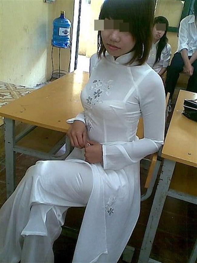 ベトナムのアオザイが透けまくっててえちえちwwwwww0010shikogin