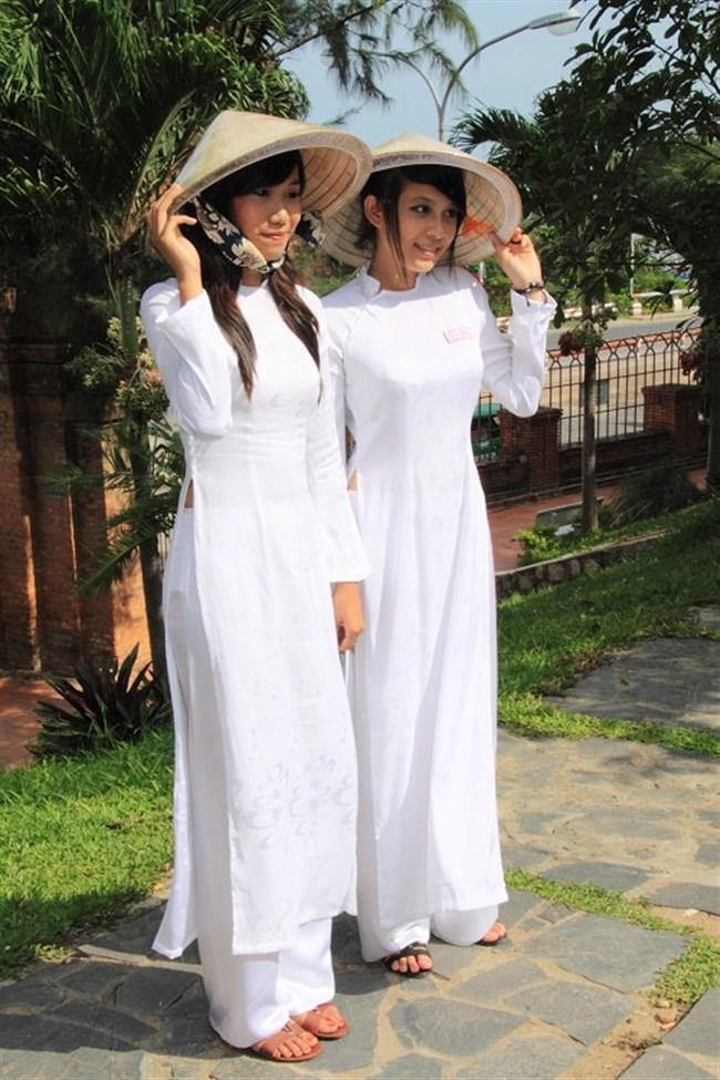 ベトナムのアオザイが透けまくっててえちえちwwwwww0021shikogin